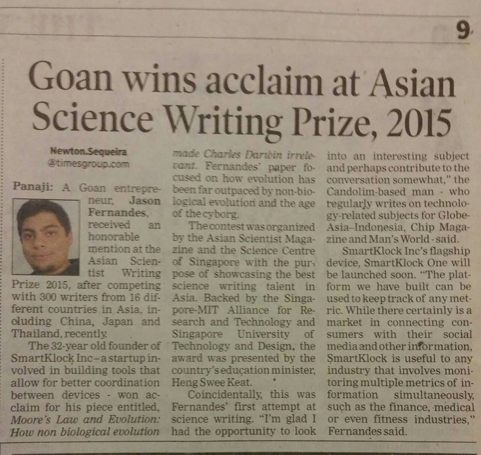 Asian Scientist Writing Prize
